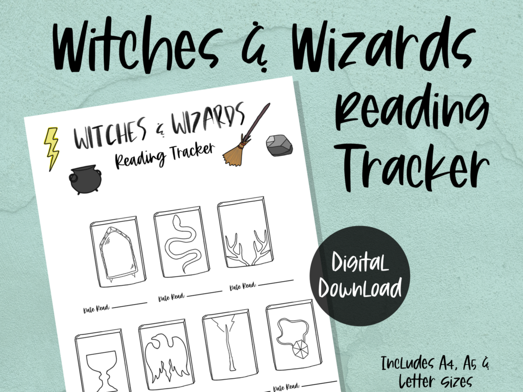 printable reading tracker: witches & wizards