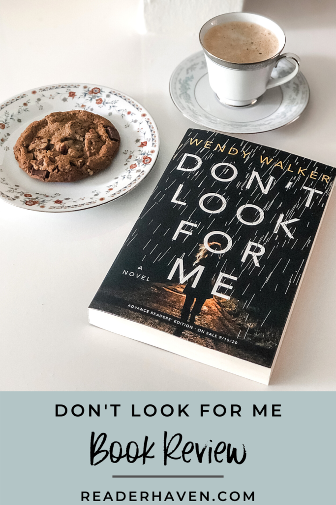 don't look for me book review