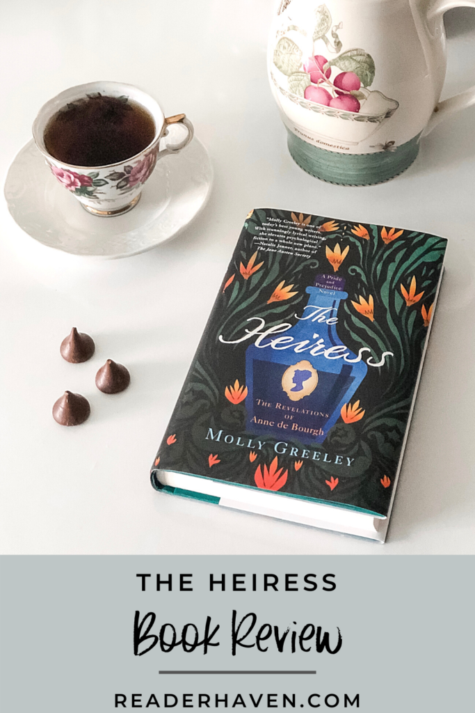 The Heiress by Molly Greeley - book with teacup